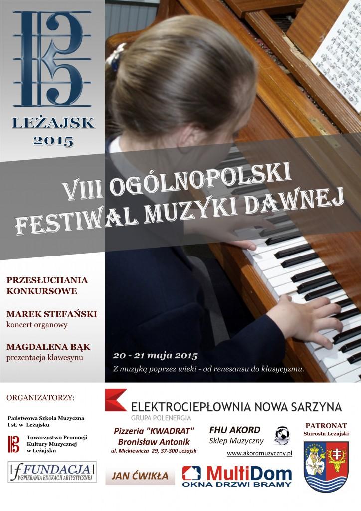 Plakat VIII Ogólnopolskiego Festiwalu Muzyki Dawnej