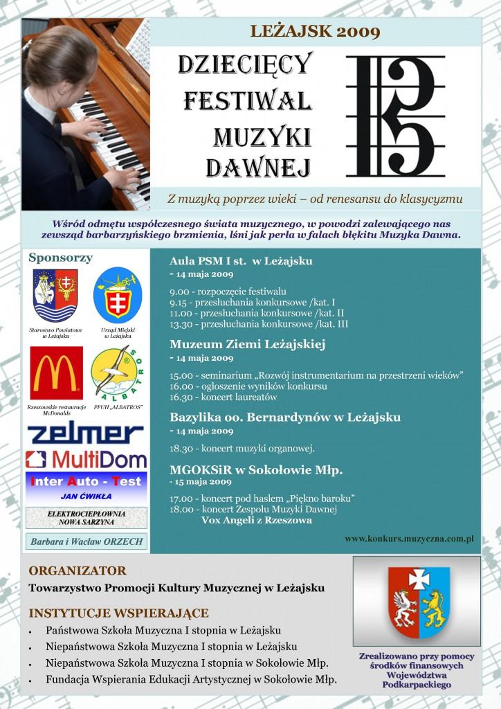 II Dziecięcy Festiwal Muzyki Dawnej
