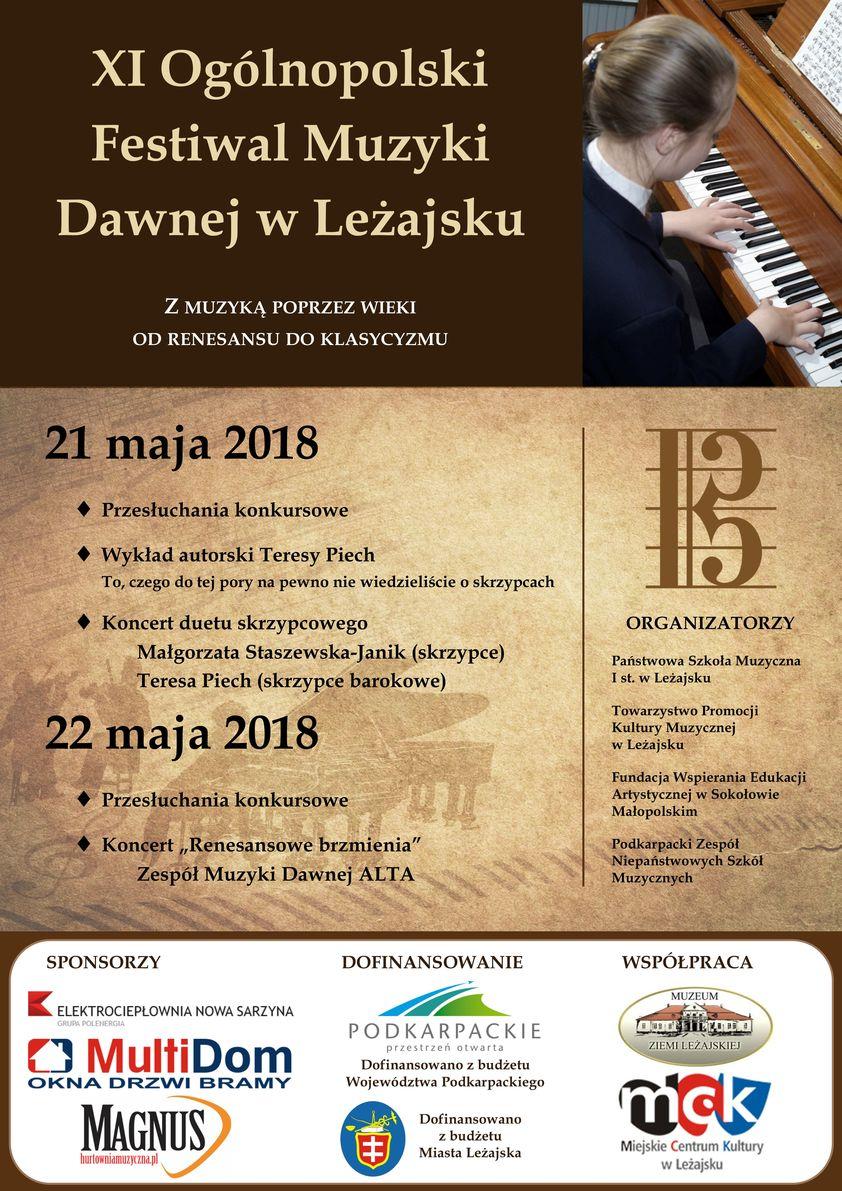 Plakaty Ogólnopolski Festiwal Muzyki Dawnej W Leżajsku